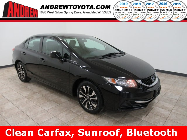 Stock #: KB1213 Black 2013 Honda Civic EX 4D Sedan in Milwaukee, Wisconsin 53209