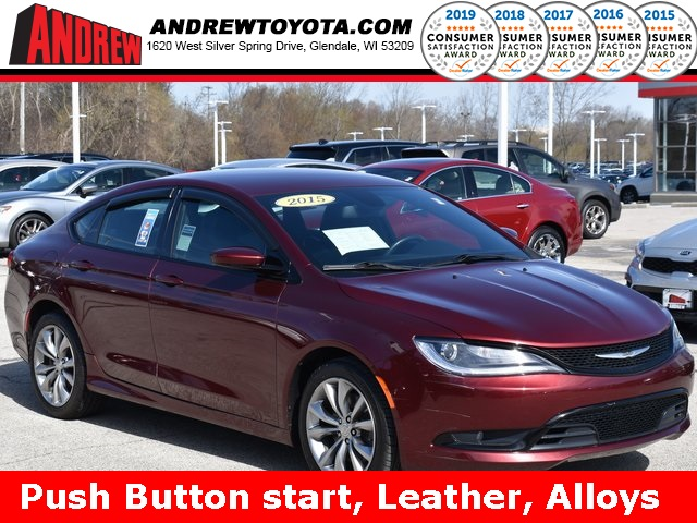 Stock #: 39412B Red 2015 Chrysler 200 S 4D Sedan in Milwaukee, Wisconsin 53209