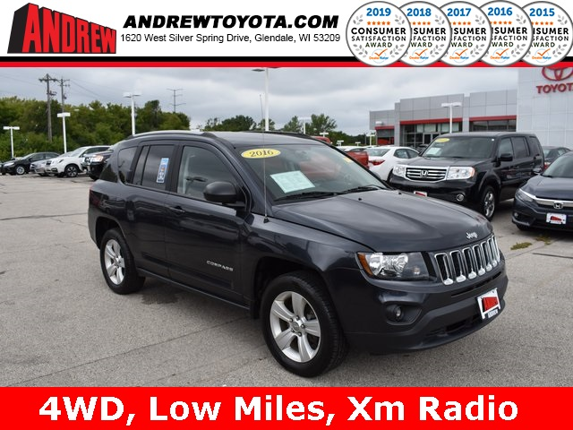 Stock #: 38350A Black 2016 Jeep Compass Sport 4D Sport Utility in Milwaukee, Wisconsin 53209