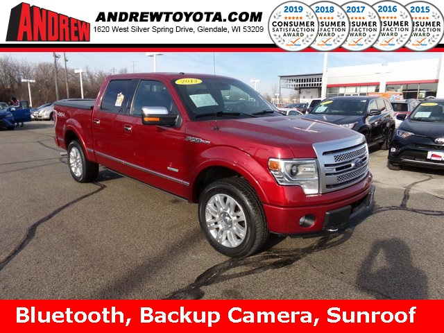 Stock #: 38594B Red 2013 Ford F-150 Platinum 4D SuperCrew in Milwaukee, Wisconsin 53209