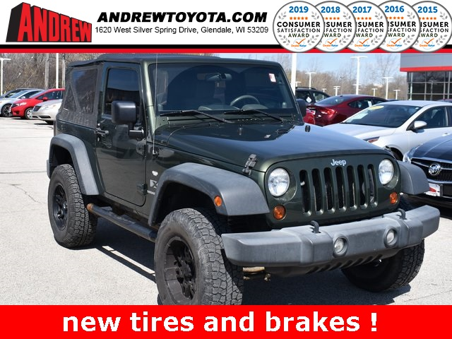 Stock #: 39244A Green 2009 Jeep Wrangler X 2D Sport Utility in Milwaukee, Wisconsin 53209