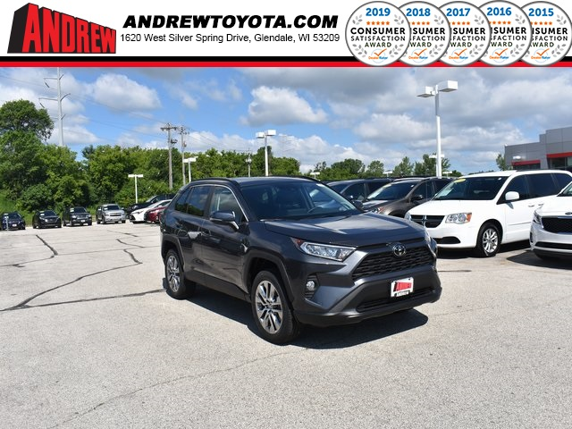 Stock #: 38232 Gray 2019 Toyota RAV4 XLE Premium 4D Sport Utility in Milwaukee, Wisconsin 53209