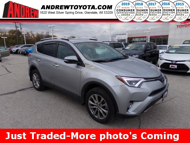 Stock #: 38652A Silver 2016 Toyota RAV4 Limited 4D Sport Utility in Milwaukee, Wisconsin 53209