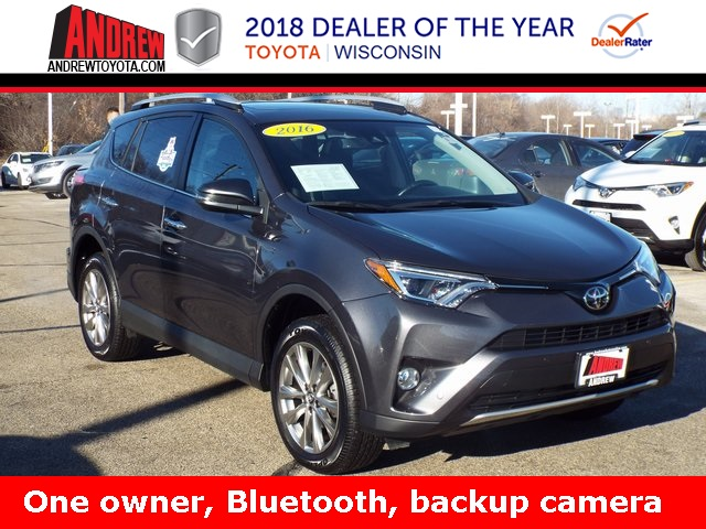 Stock Tp9583 Gray 2016 Toyota Rav4 Limited 4d Sport Utility In Milwaukee Wisconsin