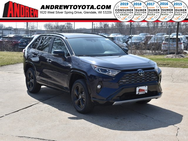 Stock #: 39400 Blueprint / Midnight Black Metallic 2020 Toyota RAV4 Hybrid XSE 4D Sport Utility in Milwaukee, Wisconsin 53209