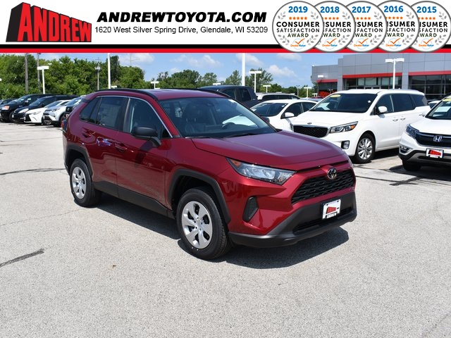 Stock #: 38212 Red 2019 Toyota RAV4 LE 4D Sport Utility in Milwaukee, Wisconsin 53209