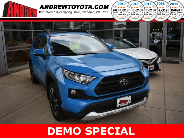 Stock #: 37899 Blue 2019 Toyota RAV4 Adventure 4D Sport Utility in Milwaukee, Wisconsin 53209