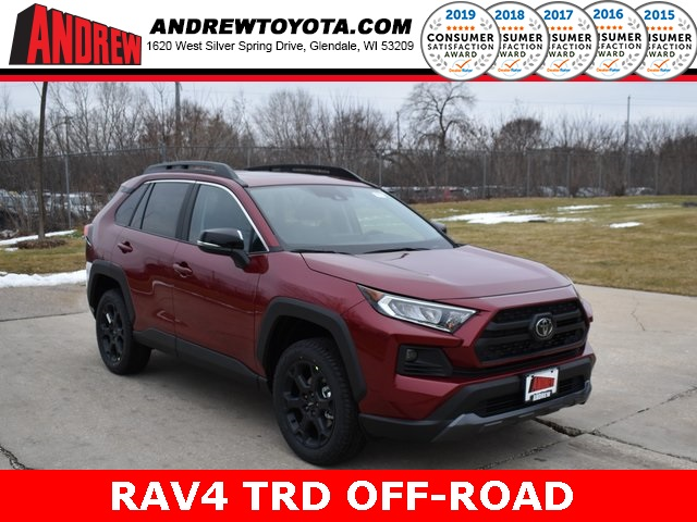 Stock #: 39052 Ruby Flare Pearl [extra_cost_color] 2020 Toyota RAV4 TRD Off Road 4D Sport Utility in Milwaukee, Wisconsin 53209