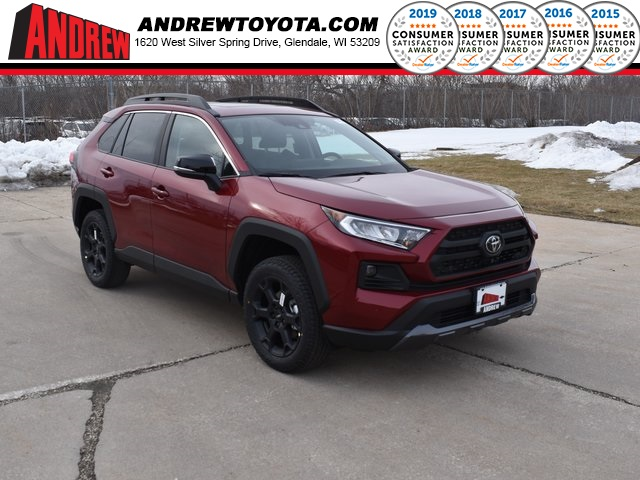 Stock #: 39150 Ruby Flare Pearl [extra_cost_color] 2020 Toyota RAV4 TRD Off Road 4D Sport Utility in Milwaukee, Wisconsin 53209