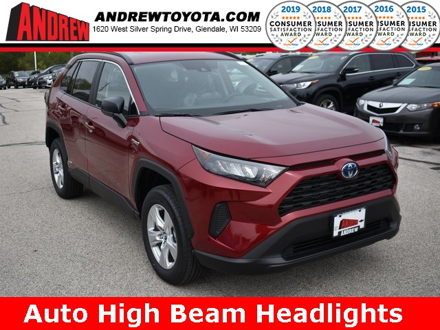 Stock #: 38022 Red 2019 Toyota RAV4 Hybrid LE 4D Sport Utility in Milwaukee, Wisconsin 53209