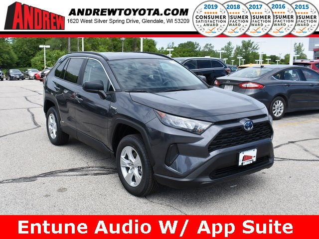 Stock #: 38064 Gray 2019 Toyota RAV4 Hybrid LE 4D Sport Utility in Milwaukee, Wisconsin 53209