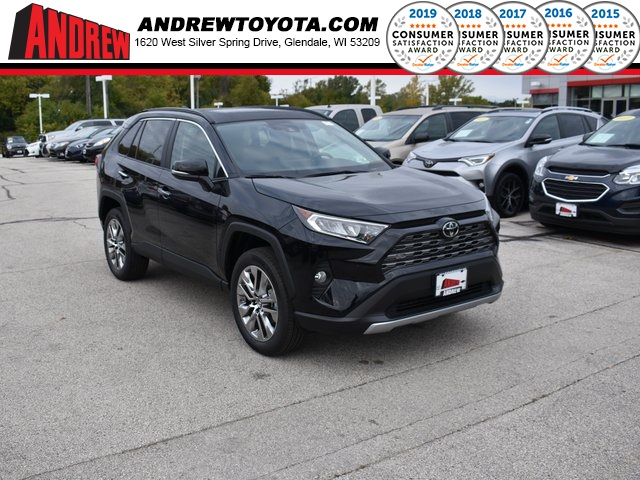 Stock #: 38663 Midnight Black Metallic 2019 Toyota RAV4 Limited 4D Sport Utility in Milwaukee, Wisconsin 53209