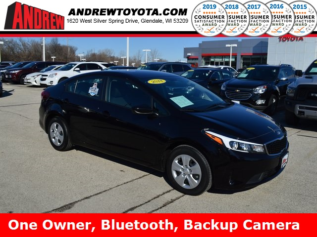 Stock #: 37639A Black 2018 Kia Forte LX 4D Sedan in Milwaukee, Wisconsin 53209