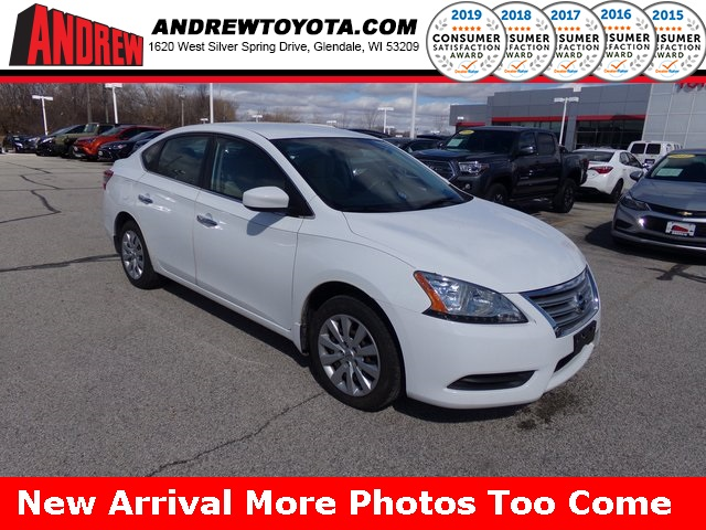 Stock #: 37839A White 2015 Nissan Sentra S 4D Sedan in Milwaukee, Wisconsin 53209