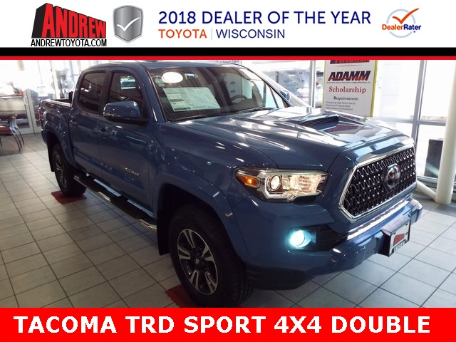 Stock #: 37036 Blue 2019 Toyota Tacoma TRD Sport 4D Double Cab in Milwaukee, Wisconsin 53209
