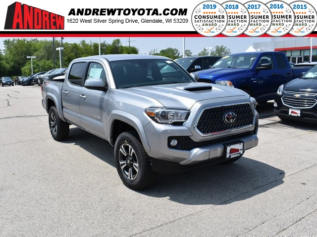Stock #: 37963 Silver 2019 Toyota Tacoma TRD Sport 4D Double Cab in Milwaukee, Wisconsin 53209