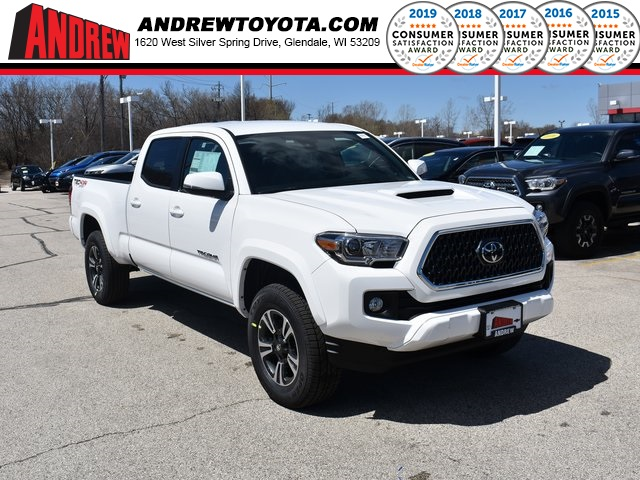 Stock 37889 White 2019 Toyota Tacoma Trd Sport 4d Double Cab In Milwaukee