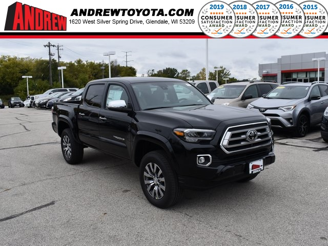 Stock #: 38734 Midnight Black Metallic 2020 Toyota Tacoma Limited 4D Double Cab in Milwaukee, Wisconsin 53209