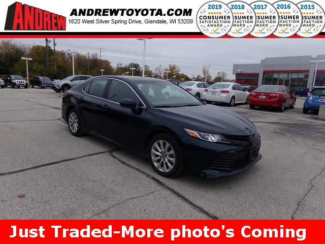 Stock #: 38833A Blue 2018 Toyota Camry LE 4D Sedan in Milwaukee, Wisconsin 53209
