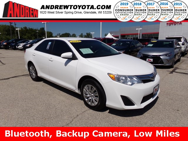 Stock #: TP10000 White 2014 Toyota Camry LE 4D Sedan in Milwaukee, Wisconsin 53209