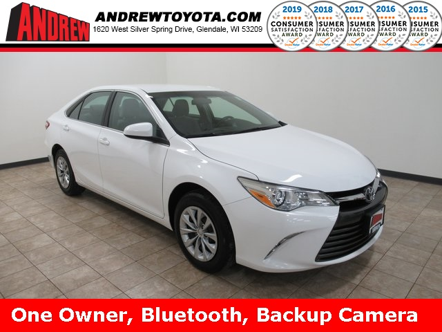 Stock #: TP1244 White 2017 Toyota Camry LE 4D Sedan in Milwaukee, Wisconsin 53209