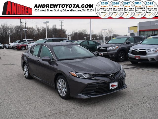 Stock #: 38845 Gray 2020 Toyota Camry LE 4D Sedan in Milwaukee, Wisconsin 53209