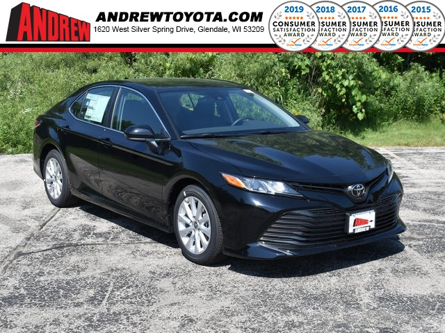 Stock #: 39633 Midnight Black Metallic 2020 Toyota Camry LE 4D Sedan in Milwaukee, Wisconsin 53209