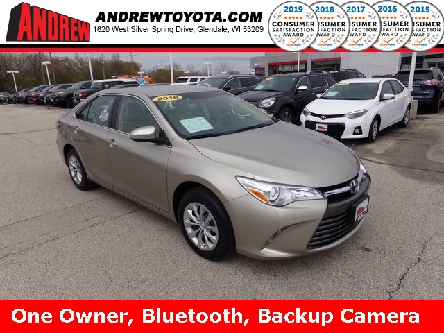 Stock #: TP9832 Beige 2016 Toyota Camry LE 4D Sedan in Milwaukee, Wisconsin 53209