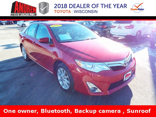 Stock #: 37301A Red 2012 Toyota Camry XLE 4D Sedan in Milwaukee, Wisconsin 53209