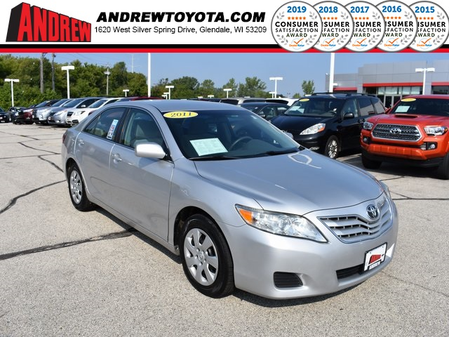 Stock #: 38536A Silver 2011 Toyota Camry LE 4D Sedan in Milwaukee, Wisconsin 53209