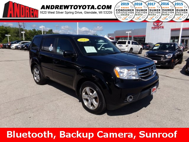 Stock #: 38108A Black 2015 Honda Pilot EX-L 4D Sport Utility in Milwaukee, Wisconsin 53209