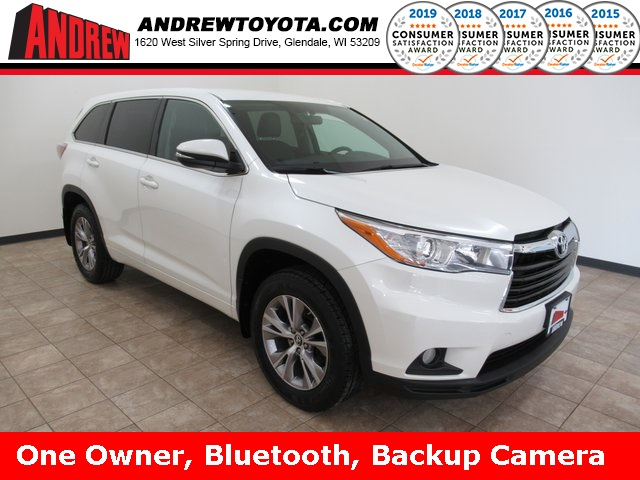 Stock #: TP1120 White 2016 Toyota Highlander LE Plus V6 4D Sport Utility in Milwaukee, Wisconsin 53209