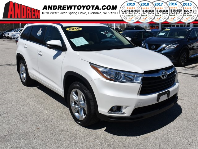 Stock Tp9813 White 2016 Toyota Highlander Limited 4d Sport Utility In Milwaukee Wisconsin