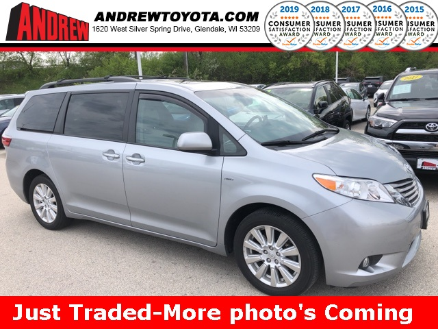 Stock 36898a Silver 2017 Toyota Sienna Limited 4d Penger Van In Milwaukee Wisconsin