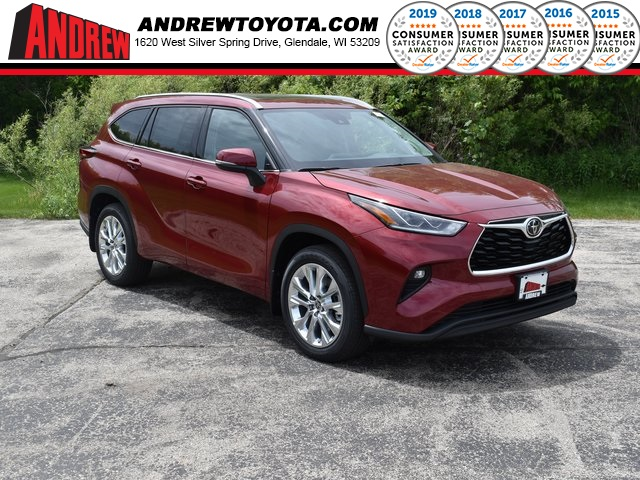 Stock #: 39562 Ruby Flare Pearl [extra_cost_color] 2020 Toyota Highlander Limited 4D Sport Utility in Milwaukee, Wisconsin 53209
