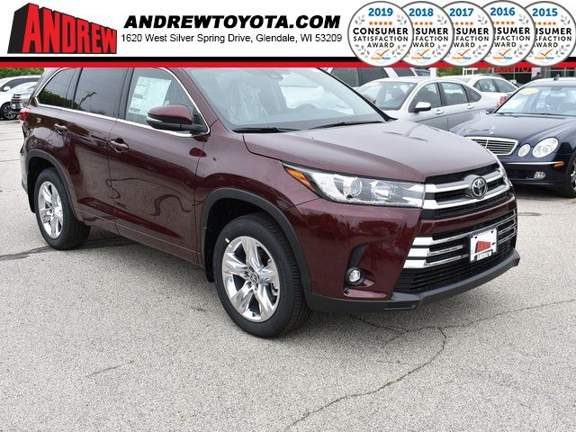 Stock #: 38075 Red 2019 Toyota Highlander Limited 4D Sport Utility in Milwaukee, Wisconsin 53209