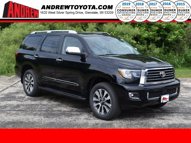 Stock #: 39609 Midnight Black Metallic 2020 Toyota Sequoia Limited 4D Sport Utility in Milwaukee, Wisconsin 53209