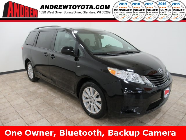 Stock #: 38835A Black 2017 Toyota Sienna LE 4D Passenger Van in Milwaukee, Wisconsin 53209