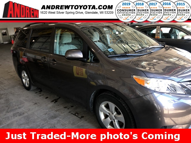 Stock #: 38881A Gray 2015 Toyota Sienna LE 4D Passenger Van in Milwaukee, Wisconsin 53209