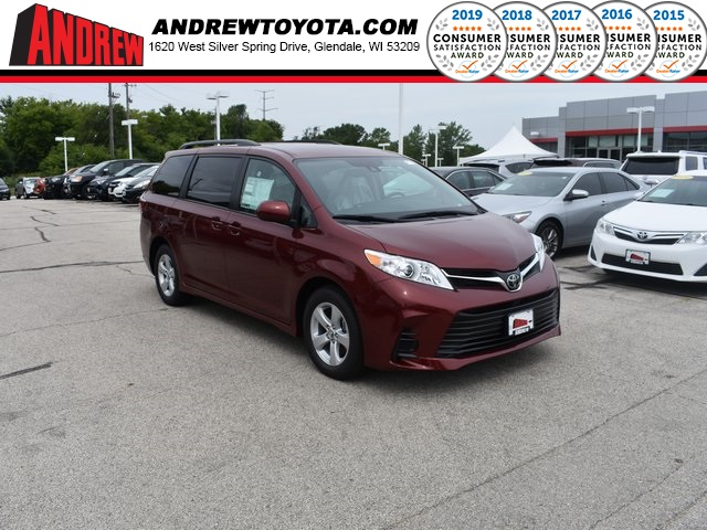 Stock #: 38430 Red 2020 Toyota Sienna LE 4D Passenger Van in Milwaukee, Wisconsin 53209