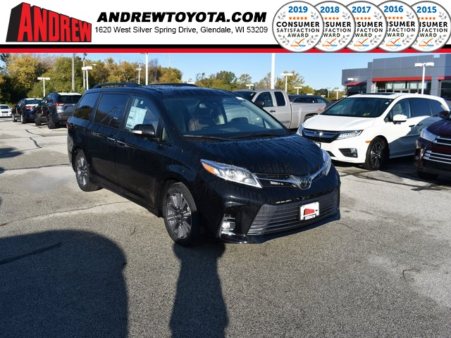 Stock #: 38759 Black 2020 Toyota Sienna Limited Premium 4D Passenger Van in Milwaukee, Wisconsin 53209