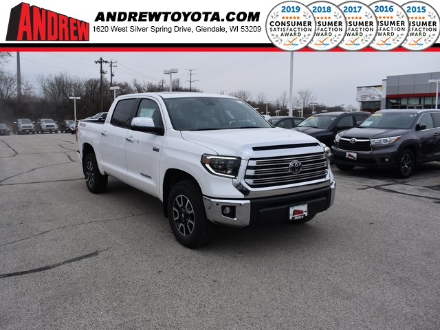 Stock #: 38930 Super White 2020 Toyota Tundra Limited 4D CrewMax in Milwaukee, Wisconsin 53209