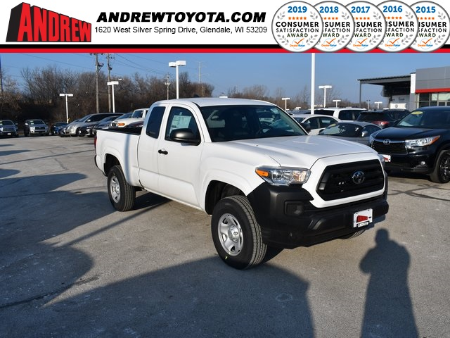 Stock #: 38950 Super White 2020 Toyota Tacoma SR 4D Access Cab in Milwaukee, Wisconsin 53209