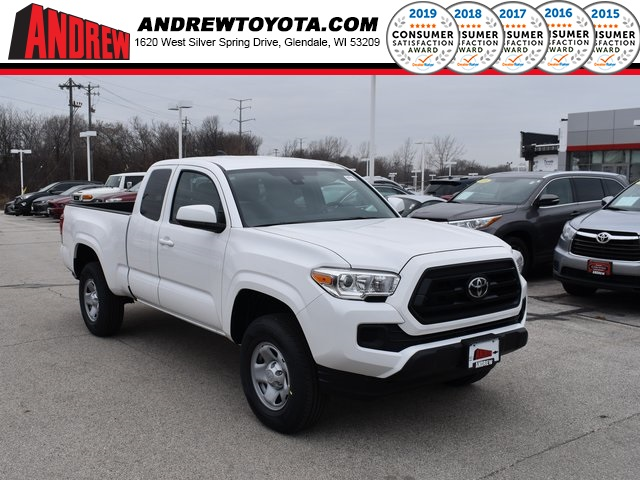 Stock #: 38953 Super White 2020 Toyota Tacoma SR 4D Access Cab in Milwaukee, Wisconsin 53209