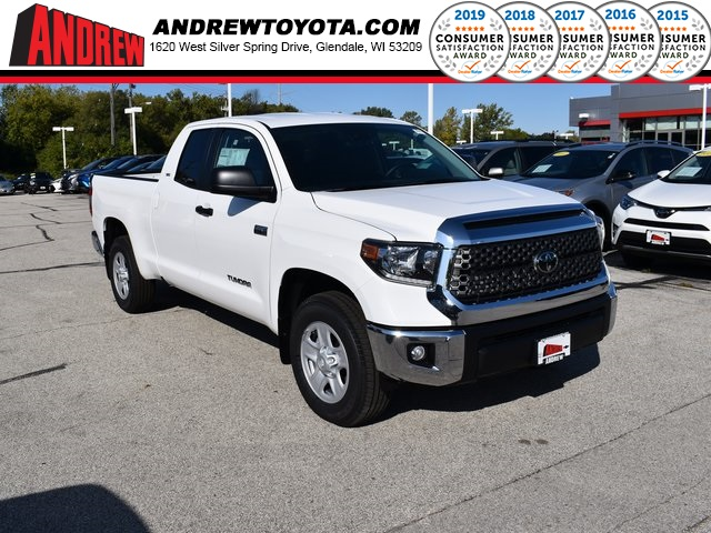 Stock #: 38691 White 2020 Toyota Tundra SR5 4D Double Cab in Milwaukee, Wisconsin 53209