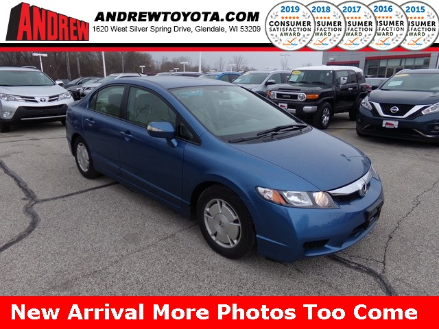Stock 37770a Blue 2010 Honda Civic Hybrid 4d Sedan In Milwaukee Wisconsin 53209