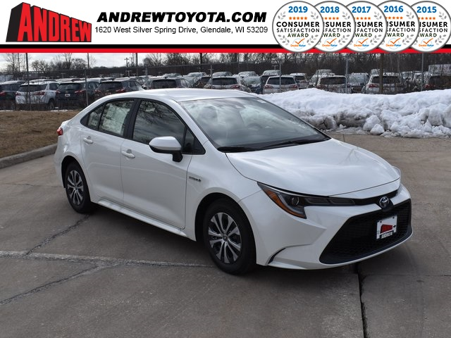Stock #: 39248 Blizzard Pearl [extra_cost_color] 2020 Toyota Corolla Hybrid LE 4D Sedan in Milwaukee, Wisconsin 53209