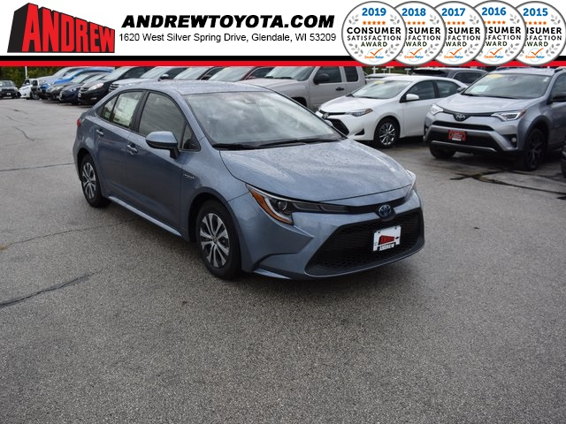 Stock #: 38731 Celestite 2020 Toyota Corolla Hybrid LE 4D Sedan in Milwaukee, Wisconsin 53209