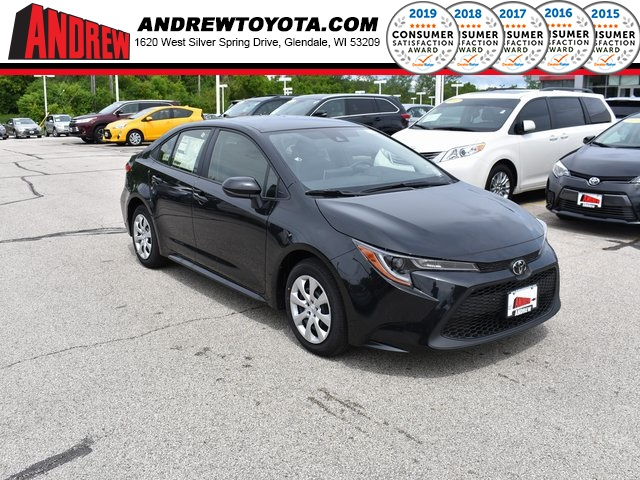 Stock #: 37733 Black 2020 Toyota Corolla LE 4D Sedan in Milwaukee, Wisconsin 53209