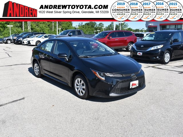 Stock #: 38351 Black 2020 Toyota Corolla LE 4D Sedan in Milwaukee, Wisconsin 53209